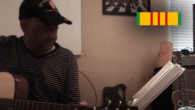 Vietnam Vet Sings Knocking on Heaven's Door via the Guitars For Vets program