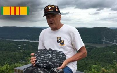 Vietnam Veteran Author Hikes 7 miles Carrying Memorial Stone to Fallen Soldier Memorial