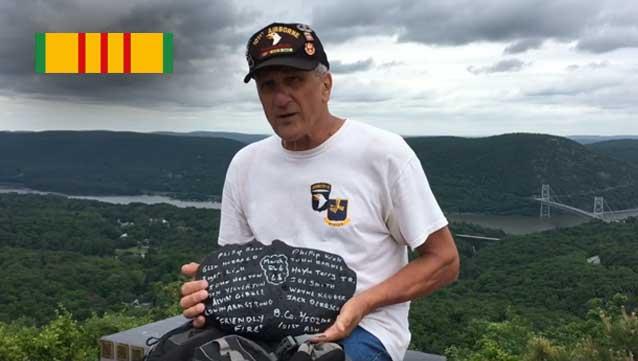 Vietnam Veteran Author Hikes 7 miles Carrying Memorial Stone to Fallen Soldier Memorial